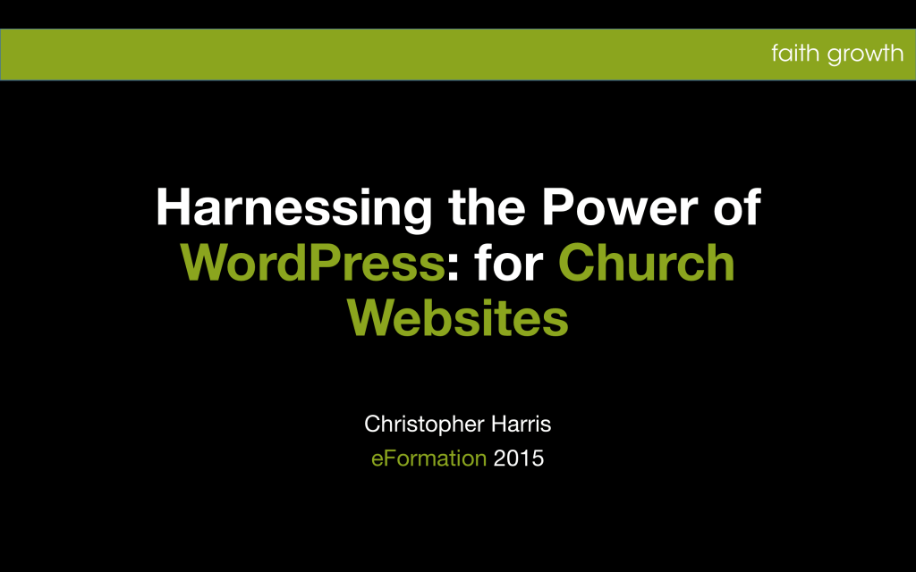 WordPress for Church Websites