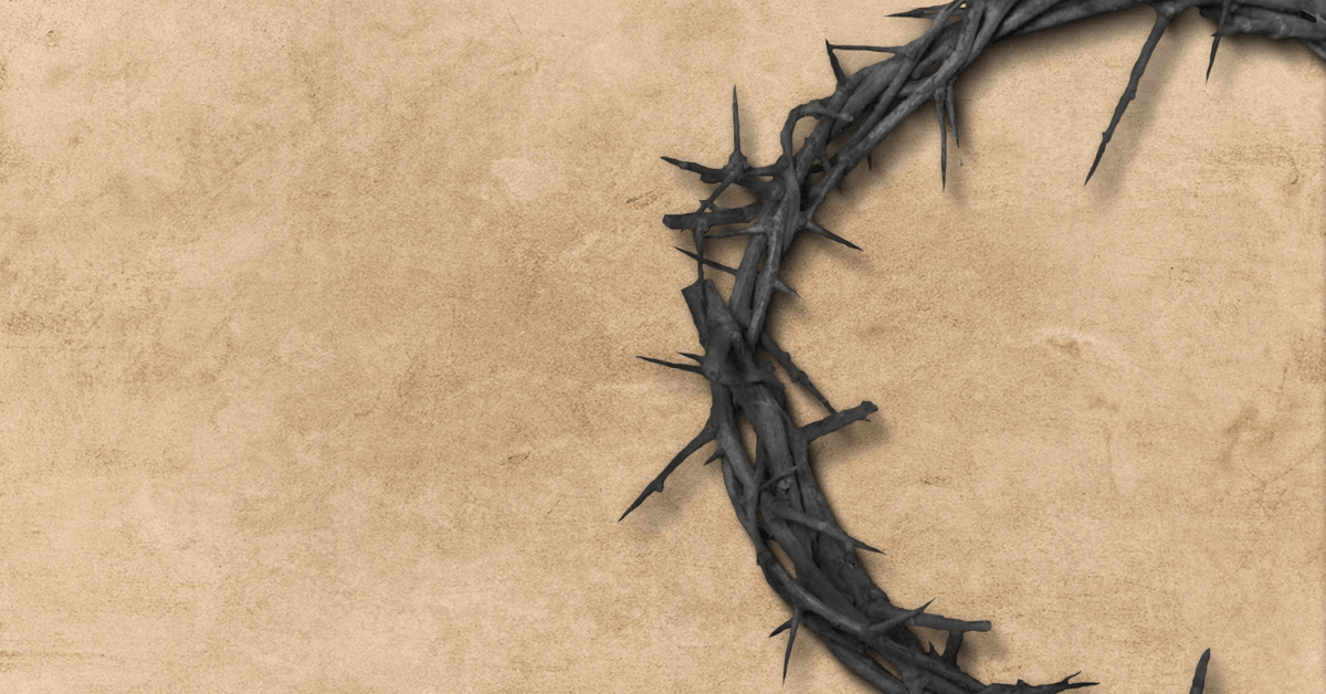crown of thorns on sandy background
