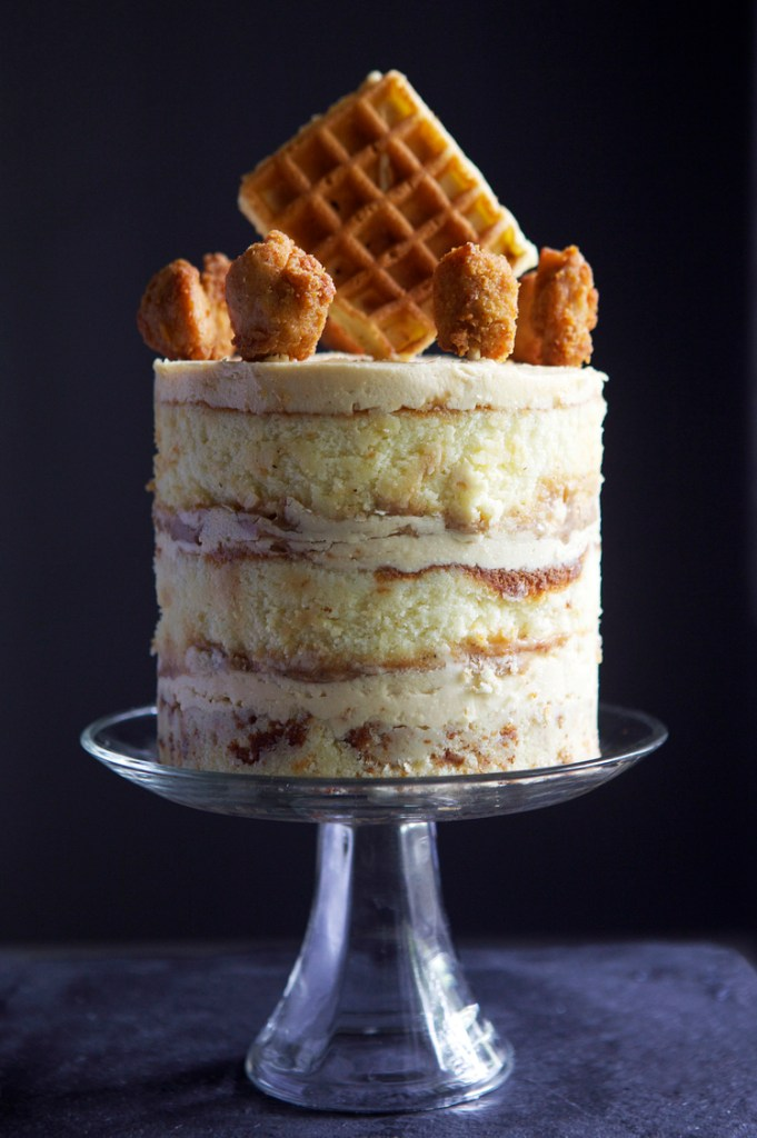 Chicken and Waffles Cake | Faith, Hope, Love, and Luck Survive Despite a Whiskered Accomplice