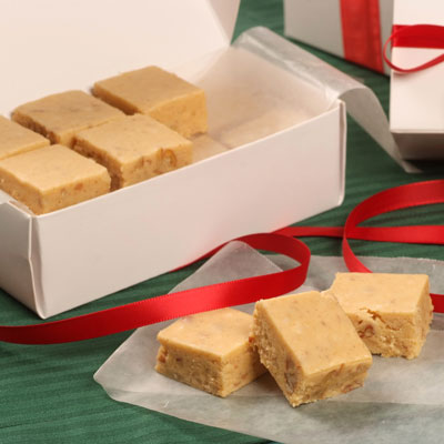 Spiced Pumpkin Fudge | Faith, Hope, Love, and Luck Survive Despite a Whiskered Accomplice
