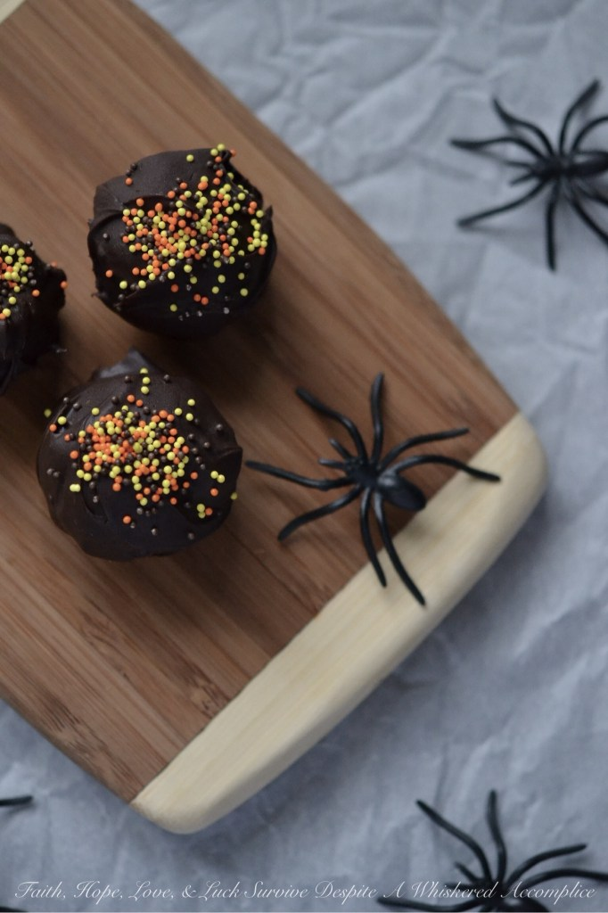 Halloween Oreo Truffles | Faith, Hope, Love, and Luck Survive Despite a Whiskered Accomplice