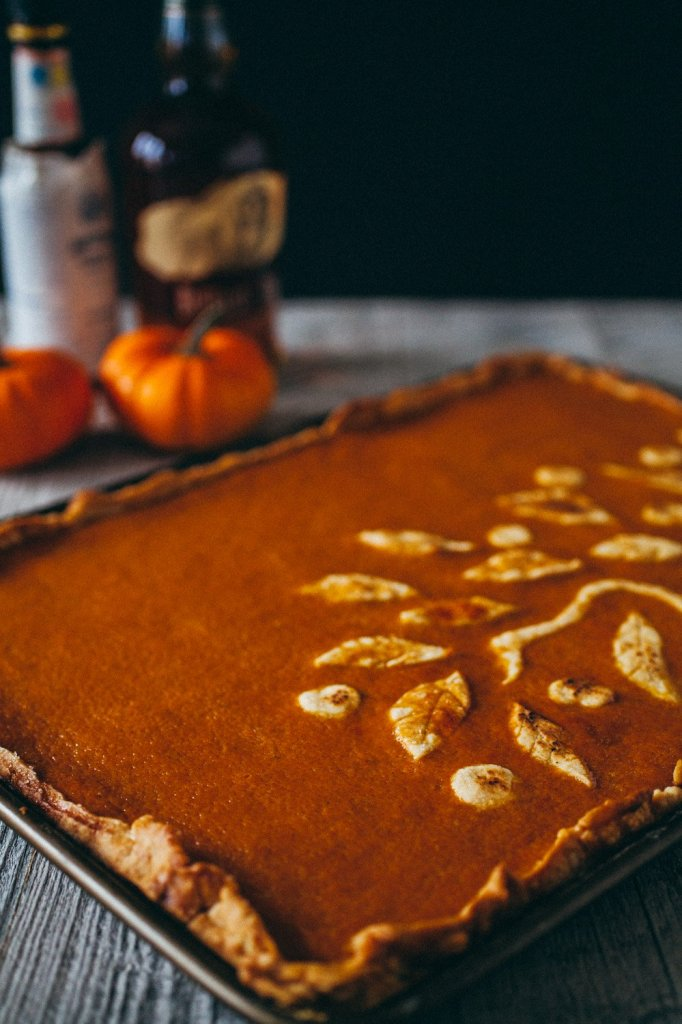 Old Fashioned Pumpkin Pie with Bourbon and Bitters | Faith, Hope, Love, and Luck Survive Despite a Whiskered Accomplice