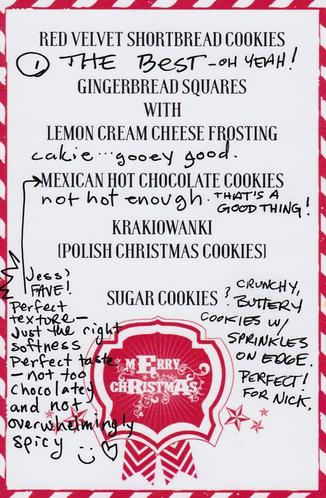 Christmas Cookie Report Card | Faith, Hope, Love, and Luck Survive Despite a Whiskered Accomplice