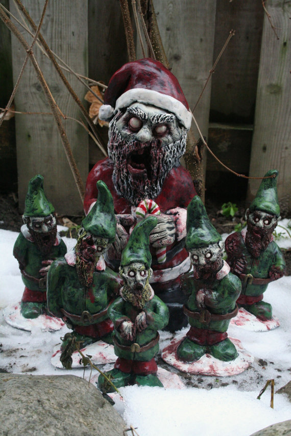 Zombie Santa Corpse and The Infected Elves Zombies | Faith, Hope, Love, and Luck Survive Despite a Whiskered Accomplice