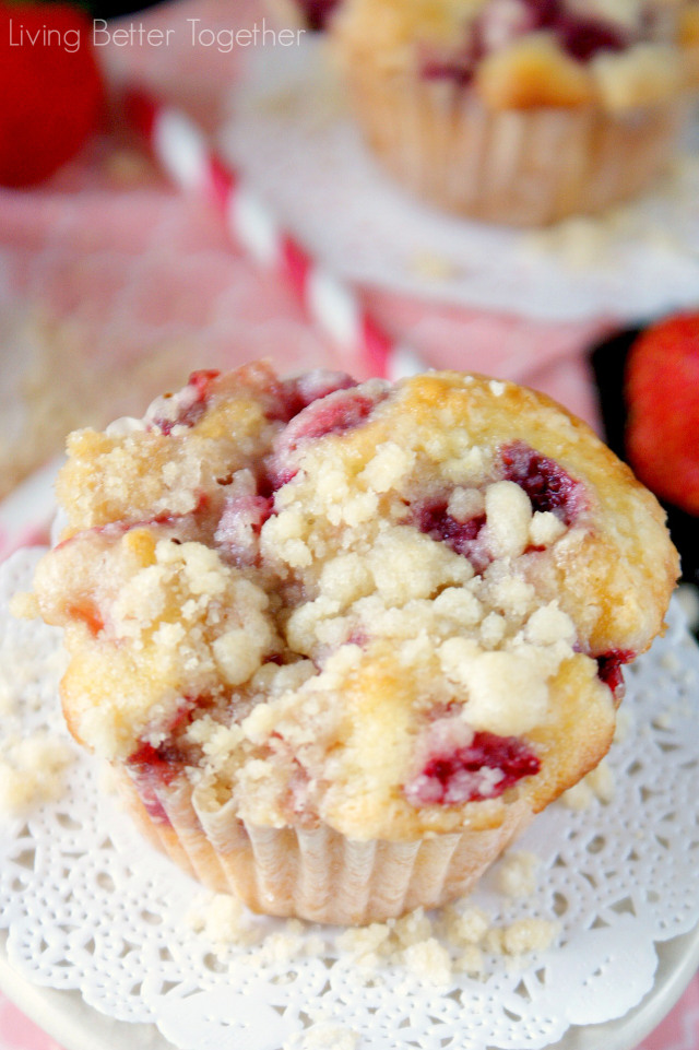 Strawberry Coffee Cake Muffins | Faith, Hope, Love, and Luck Survive Despite a Whiskered Accomplice