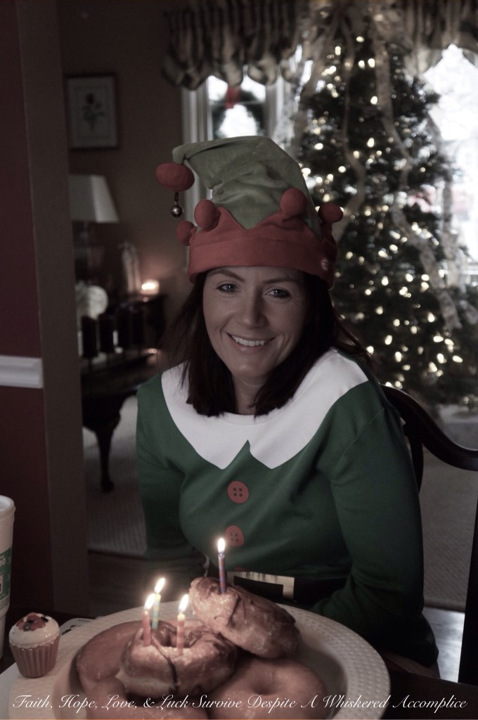 Elf Birthday Breakfast | Faith, Hope, Love, and Luck Survive Despite a Whiskered Accomplice