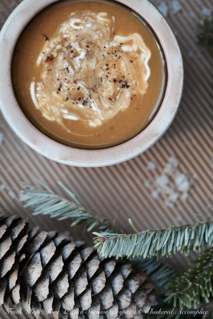 Winter's Healing Sweet Potato Soup | Faith, Hope, Love, and Luck Survive Despite a Whiskered Accomplice