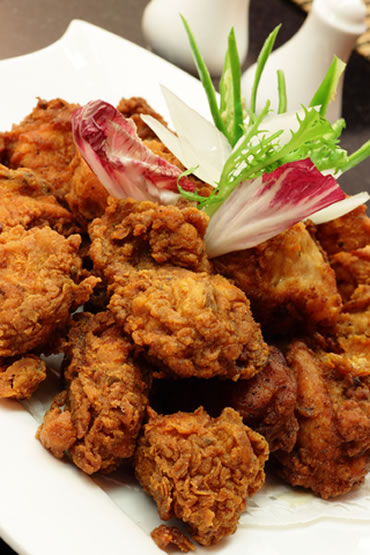 Fried Caribbean Chicken | Faith, Hope, Love, and Luck Survive Despite a Whiskered Accomplice