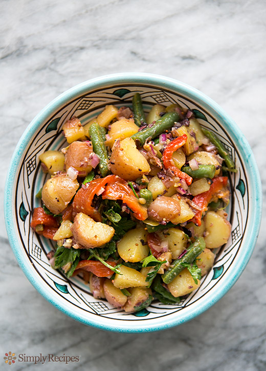 Mediterranean Potato Salad | Faith, Hope, Love, and Luck Survive Despite a Whiskered Accomplice