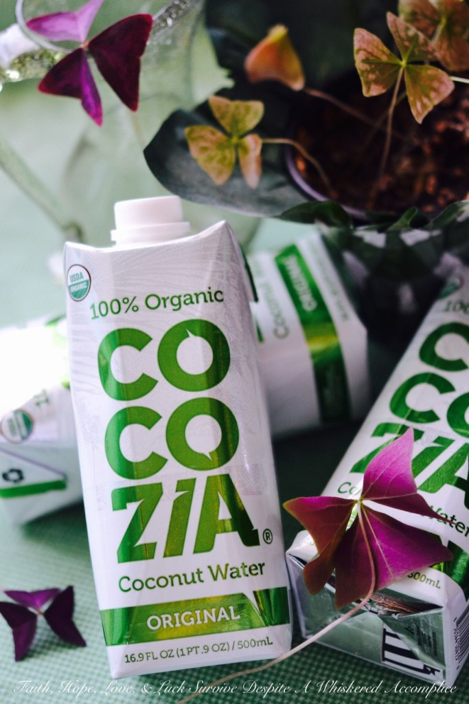 Cocozia Organic Coconut Water | Faith, Hope, Love, and Luck Survive Despite a Whiskered Accomplice