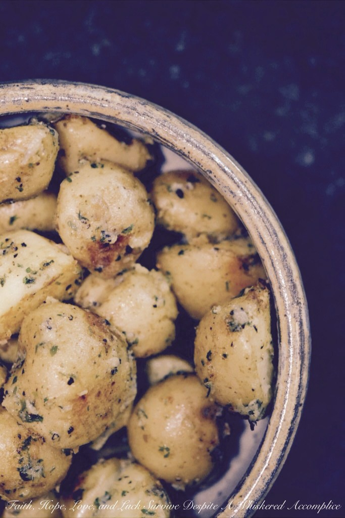 Boiled Crusted Potatoes | Faith, Hope, Love, and Luck Survive Despite a Whiskered Accomplice