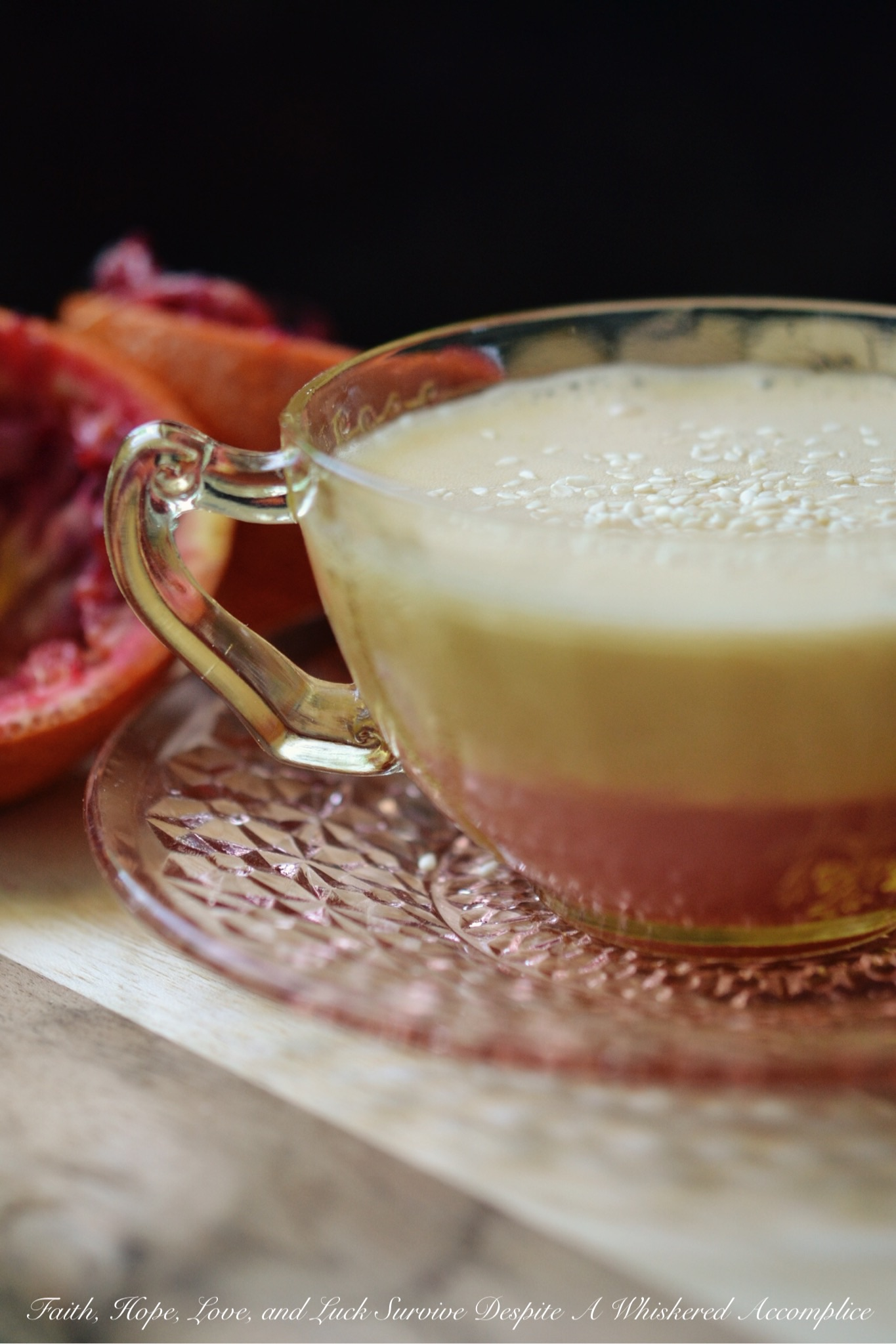 Blood Orange Coconut Water Salad Dressing