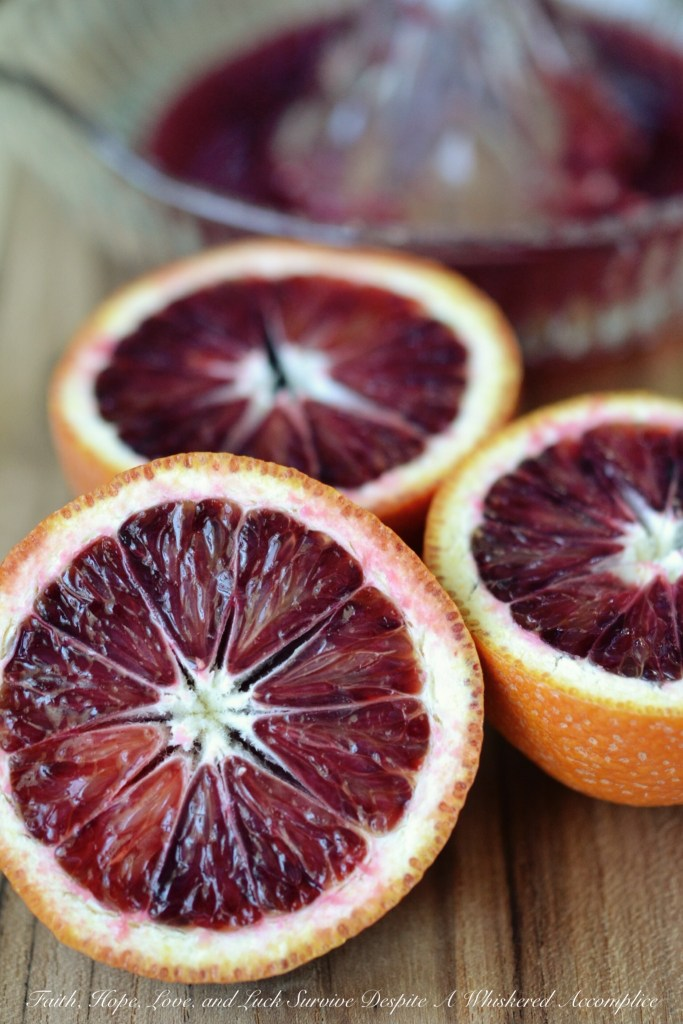 Blood Orange Coconut Water Salad Dressing | Faith, Hope, Love, and Luck Survive Despite a Whiskered Accomplice