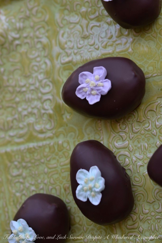 Retro Peanut Butter Easter Eggs | Faith, Hope, Love, and Luck Survive Despite a Whiskered Accomplice