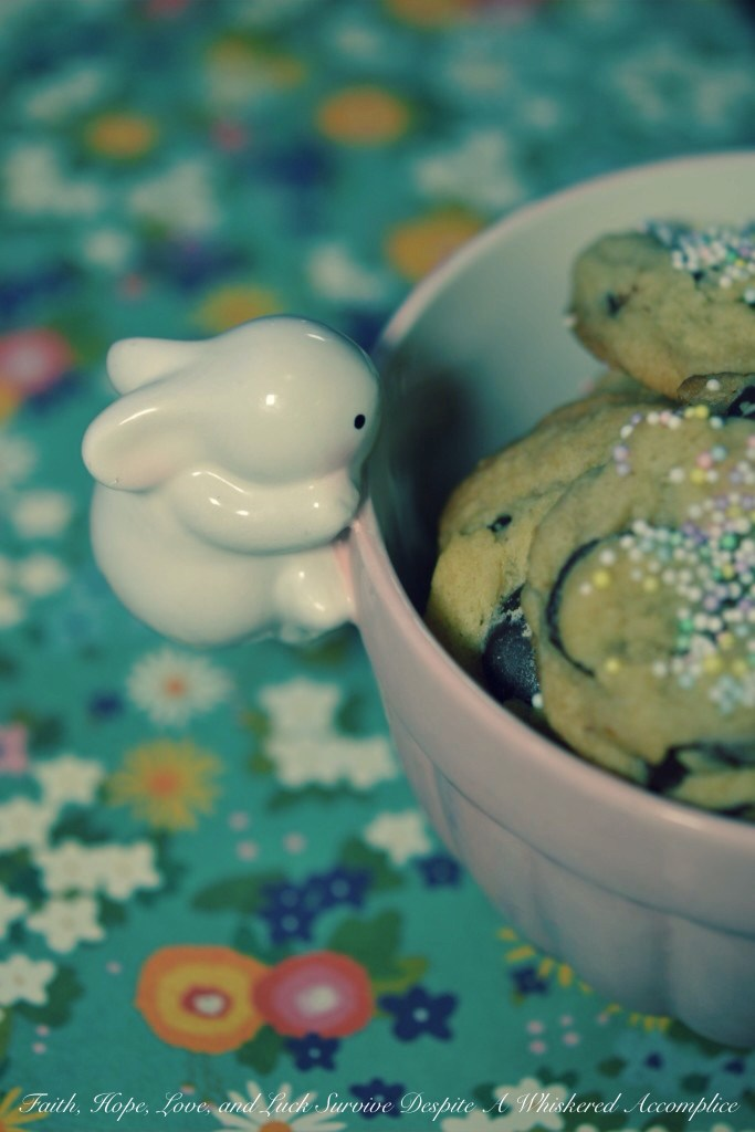 Easter Bunny Poop Cookies | Faith, Hope, Love, and Luck Survive Despite a Whiskered Accomplice