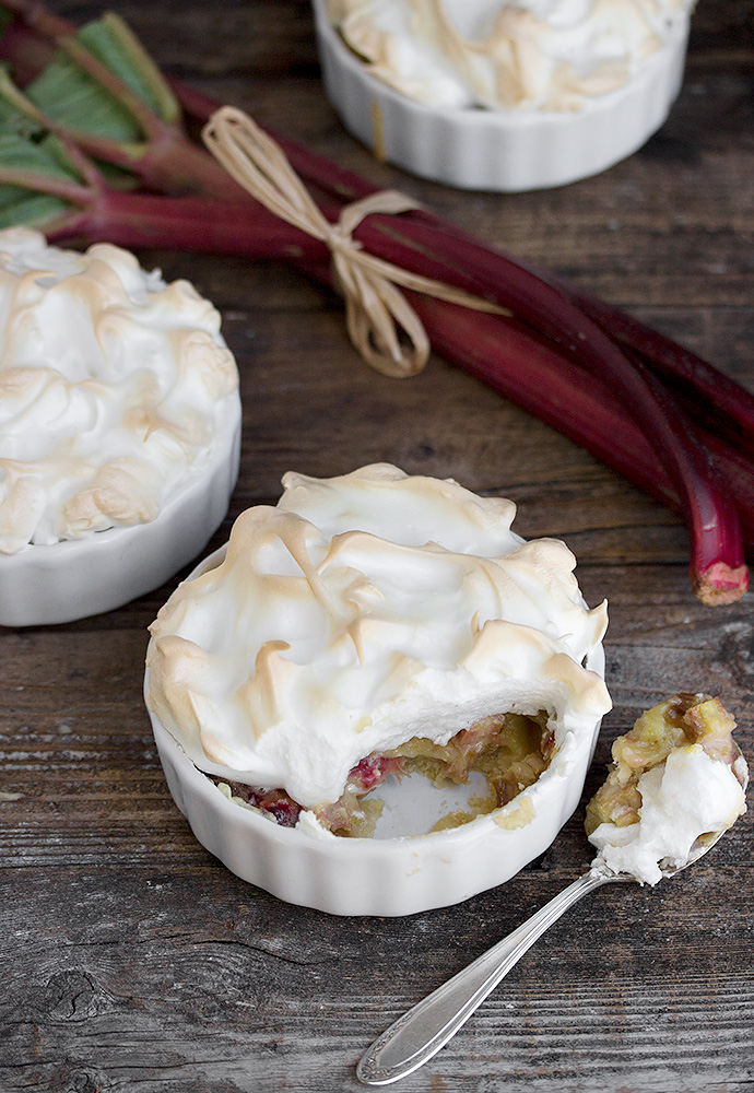 Individual Rhubarb Meringue Tortes | Faith, Hope, Love, and Luck Survive Despite a Whiskered Accomplice