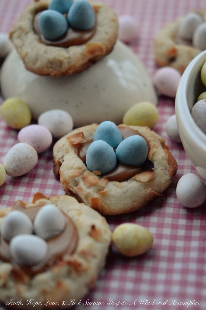 Pretzel Birds Nest Cookies | Faith, Hope, Love, and Luck Survive Despite a Whiskered Accomplice