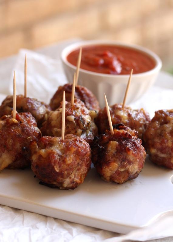 Smoked Sausage Bacon Pepperoni Mozzarella Meatballs | Faith, Hope, Love, and Luck Survive Despite a Whiskered Accomplice