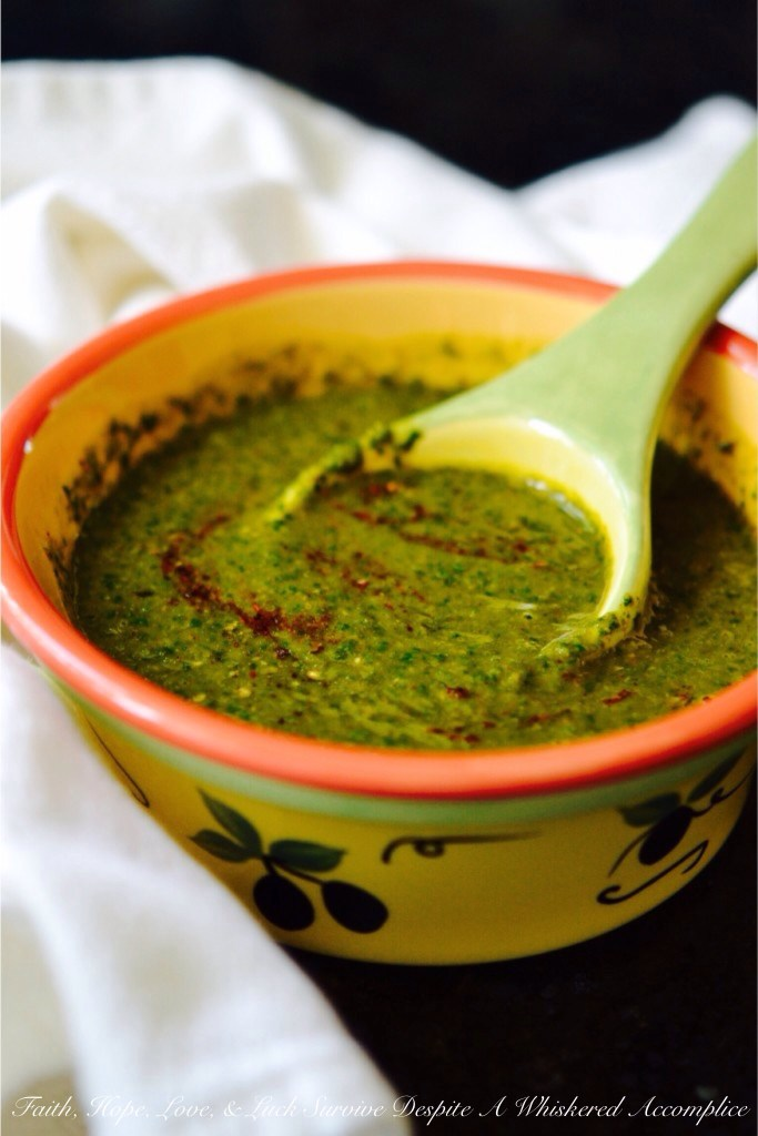Day 2 - Taco Seasoning: Chimichurri Sauce | Faith, Hope, Love, and Luck Survive Despite a Whiskered Accomplice