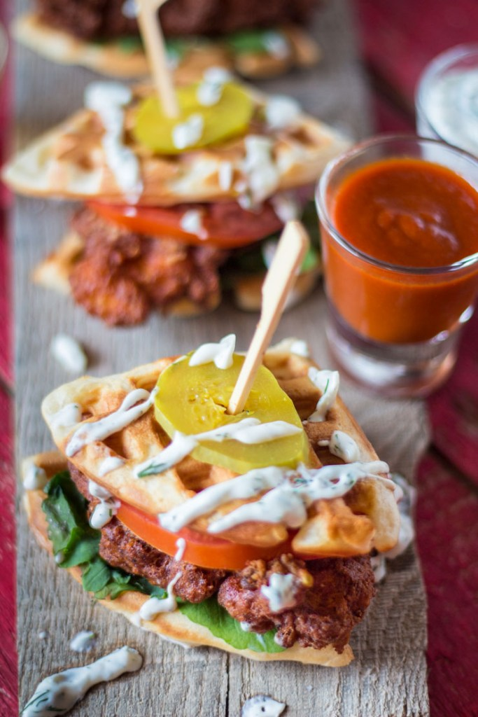 Hot Chicken Waffle Sliders | Faith, Hope, Love, and Luck Survive Despite a Whiskered Accomplice