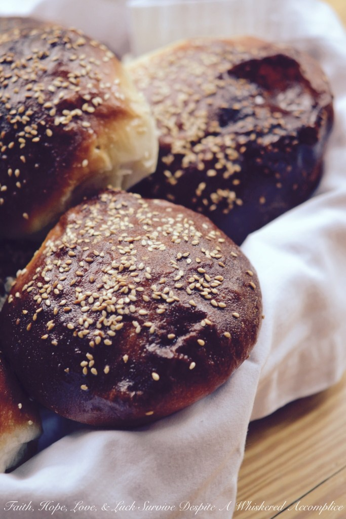 Stand Mixer Sesame Seed Buns | Faith, Hope, Love, and Luck Survive Despite a Whiskered Accomplice
