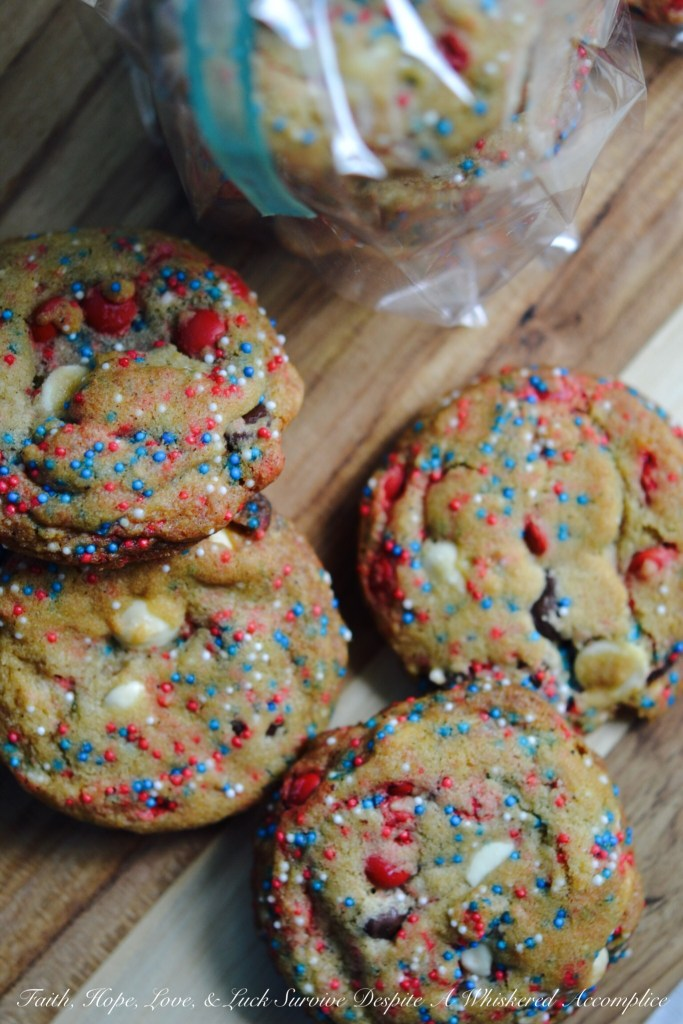 4th of July Brown Butter Whoop It Up Cookies | Faith, Hope, Love, and Luck Survive Despite a Whiskered Accomplice