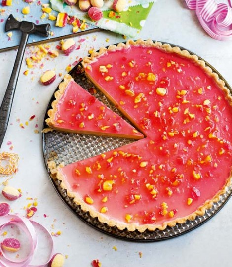 Boozy Rhubarb and Custard Tart | Faith, Hope, Love, and Luck Survive Despite a Whiskered Accomplice