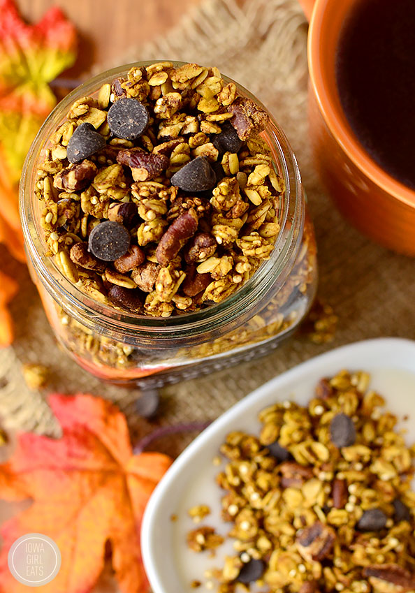 Pumpkin Spice Chocolate Granola | Faith, Hope, Love, and Luck Survive Despite a Whiskered Accomplice