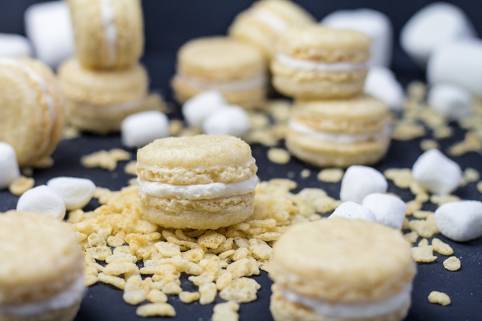 Rice Krispies Treat Macarons | Faith, Hope, Love, and Luck Survive Despite a Whiskered Accomplice