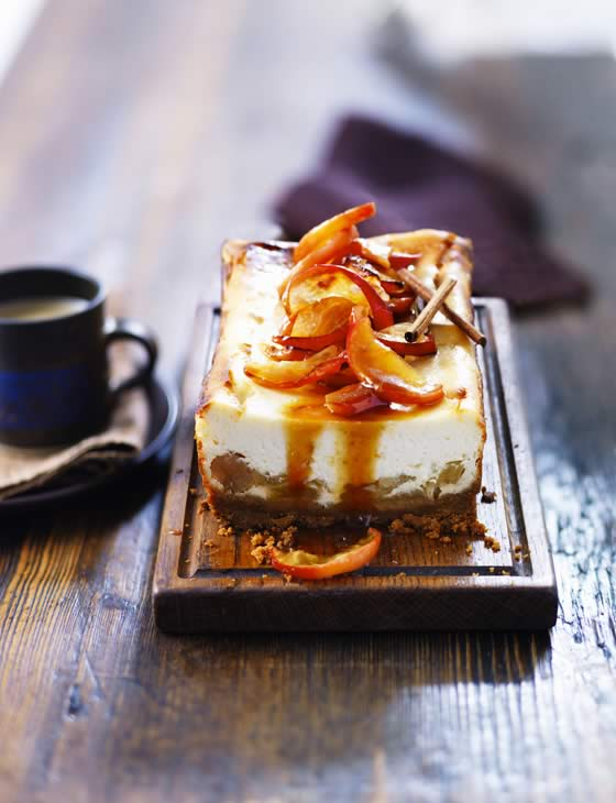 Toffee Apple Cheesecake | Faith, Hope, Love, and Luck Survive Despite a Whiskered Accomplice