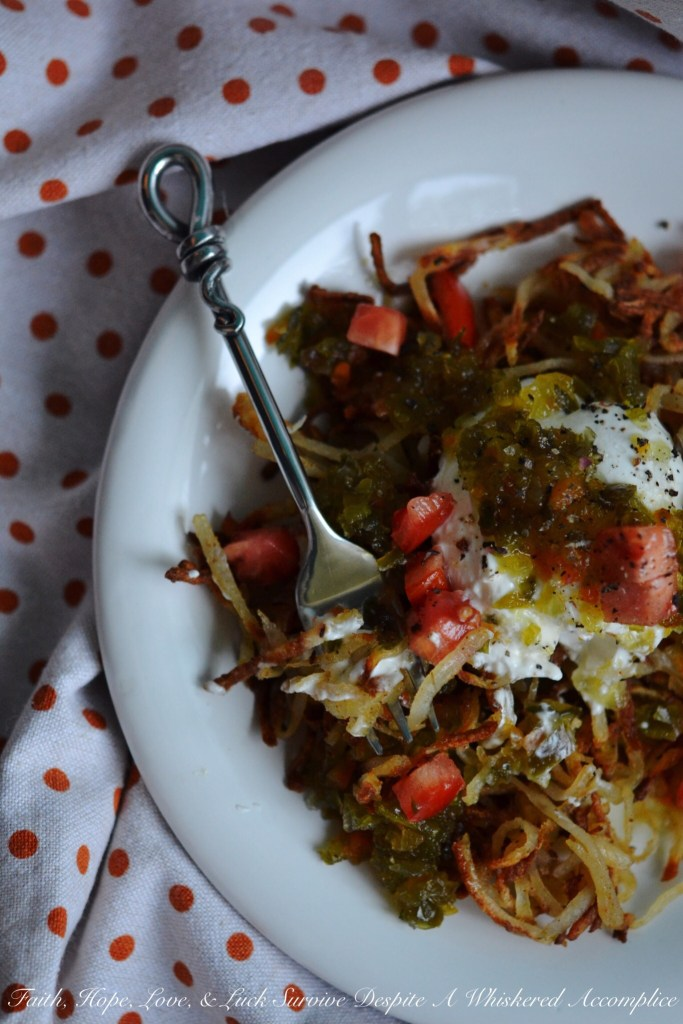 Oven-Baked Mexican Hash Browns | Faith, Hope, Love, and Luck Survive Despite a Whiskered Accomplice