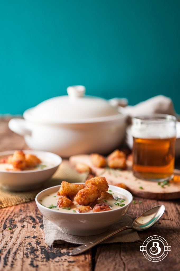 10-Minute Tater Tot Beer Cheese and Chives Soup | Faith, Hope, Love, and Luck Survive Despite a Whiskered Accomplice
