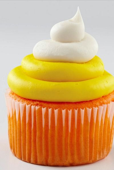 Halloween Candy Corn Cupcakes | Faith, Hope, Love, and Luck Survive Despite a Whiskered Accomplice