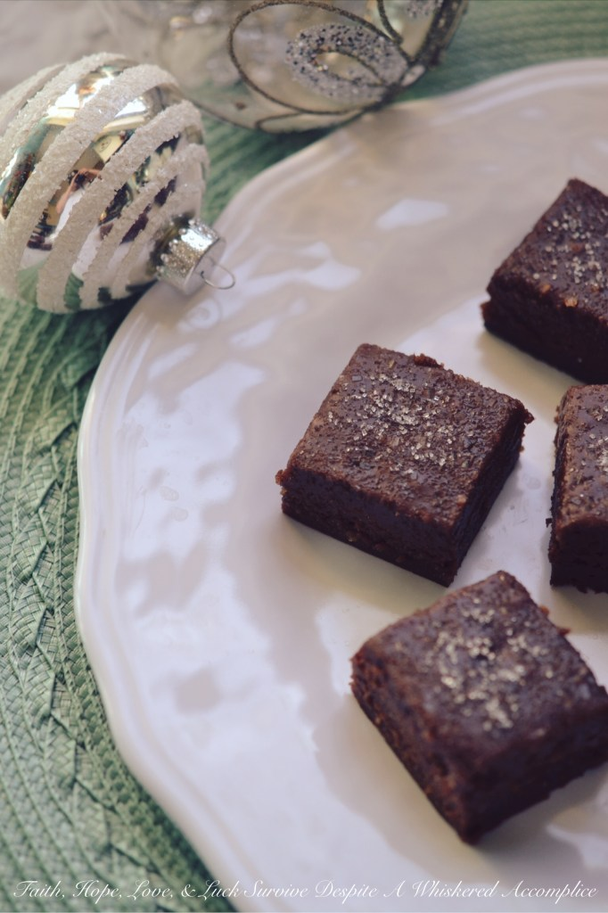 Eggnog Fudge Brûlée Brownies | Faith, Hope, Love, and Luck Survive Despite a Whiskered Accomplice