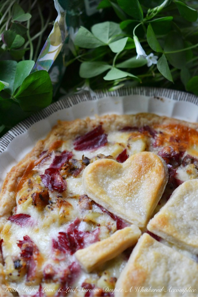 Corned Beef Hash Rustic Pie | Faith, Hope, Love, and Luck Survive Despite a Whiskered Accomplice
