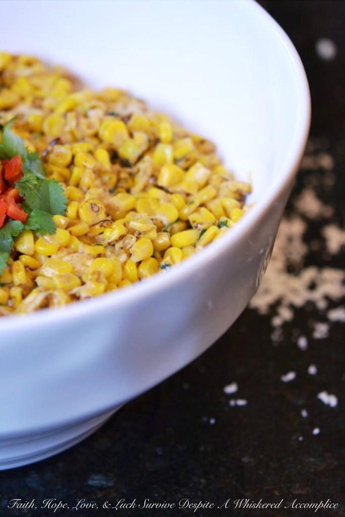 Mexican Street Corn Salad| Faith, Hope, Love, and Luck Survive Despite a Whiskered Accomplice