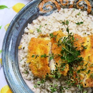 Instagram - Cornmeal Crusted Cod with Buttermilk Cauliflower Rice | Faith, Hope, Love, and Luck Survive Despite a Whiskered Accomplice