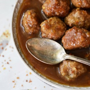 Instagram - Turkey Meatballs in Spicy Beer Marmalade Sauce | Faith, Hope, Love, and Luck Survive Despite a Whiskered Accomplice