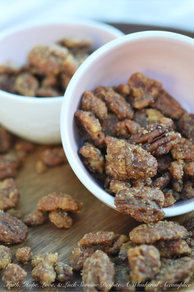 Crockpot Cinnamon Praline Pecans | Faith, Hope, Love, and Luck Survive Despite a Whiskered Accomplice