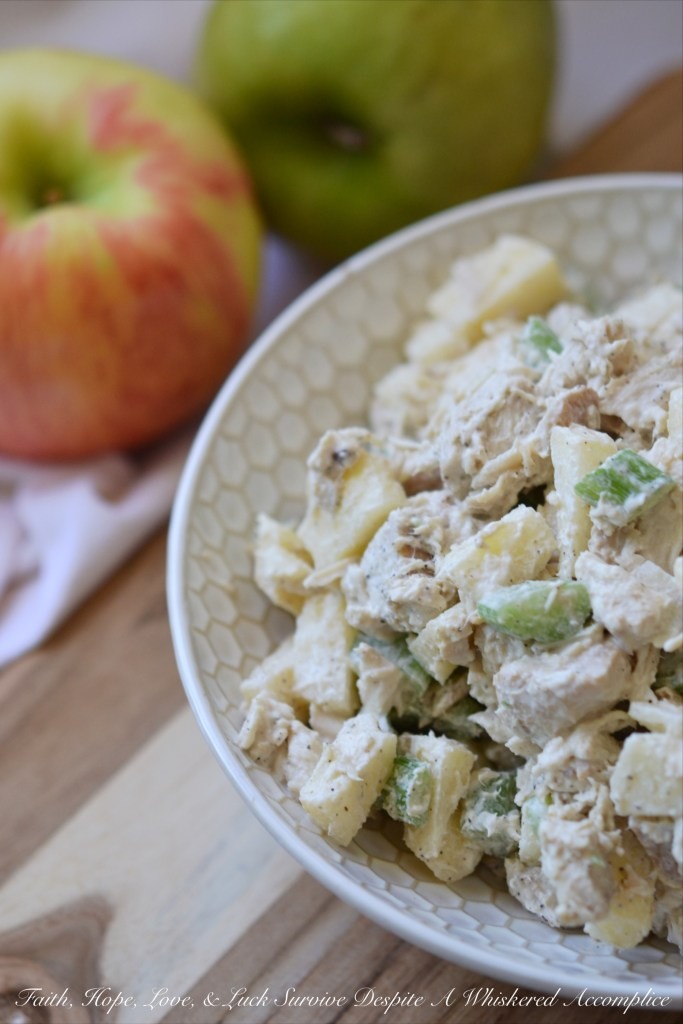 Crunchy Autumn Chicken Salad | Faith, Hope, Love, and Luck Survive Despite a Whiskered Accomplice