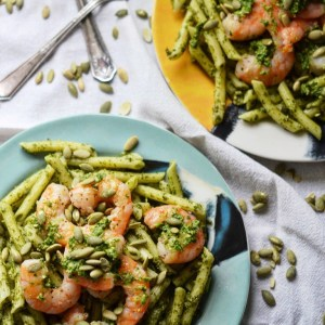 Instagram - Pepita Pesto-Coated Pasta with Shrimp | Faith, Hope, Love, and Luck Survive Despite a Whiskered Accomplice