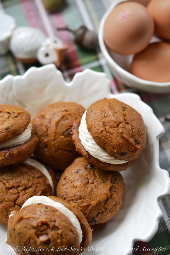Winning Pumpkin Chocolate Whoopie Cookies | Faith, Hope, Love, and Luck Survive Despite a Whiskered Accomplice