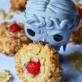 The best things happen when you combine Doctor Who, Weeping Angels, boozy cherries, breakfast cereal, and cookie ingredients to make Cherry Don't Blinks.