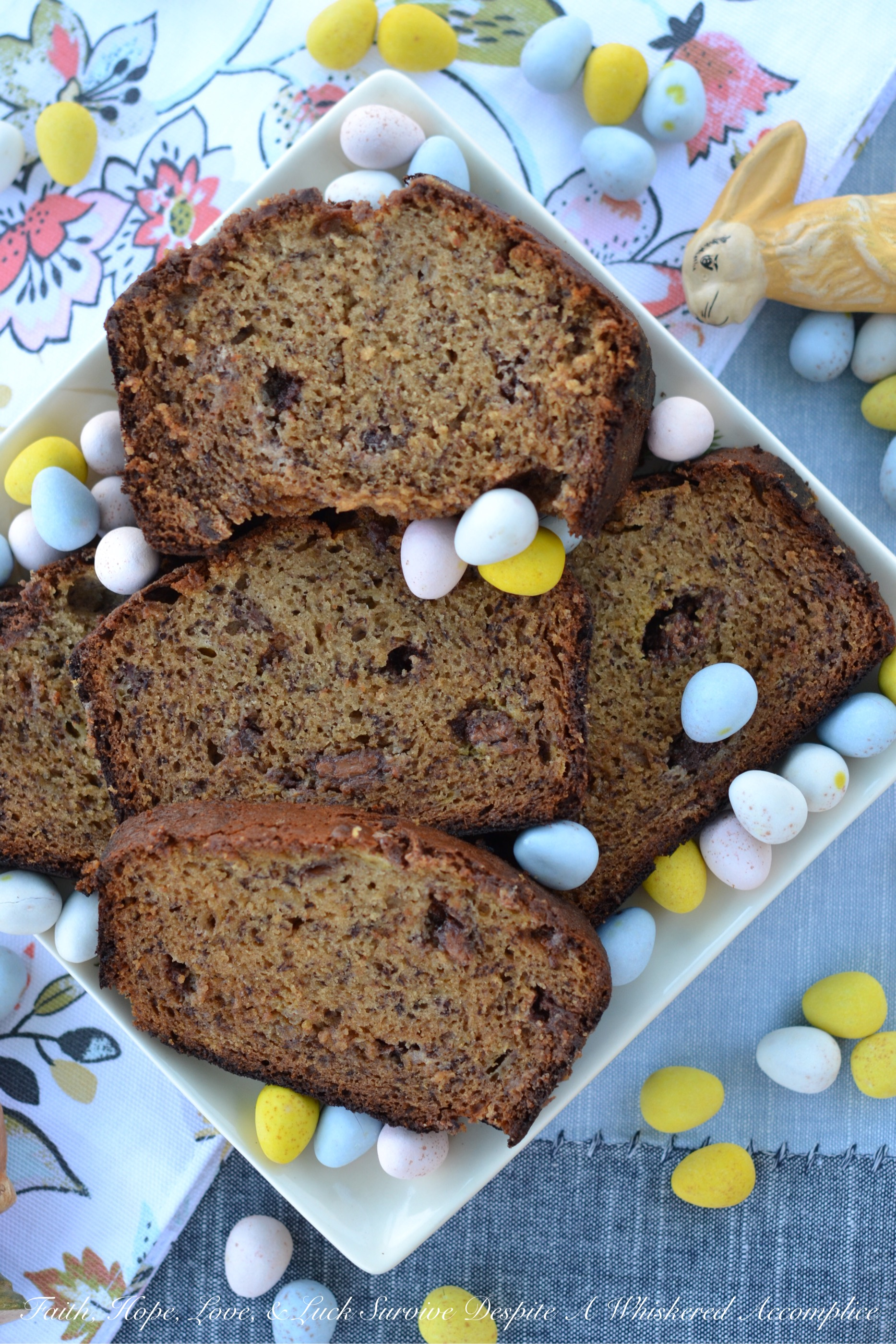 Cadbury Mini Egg Banana Bread