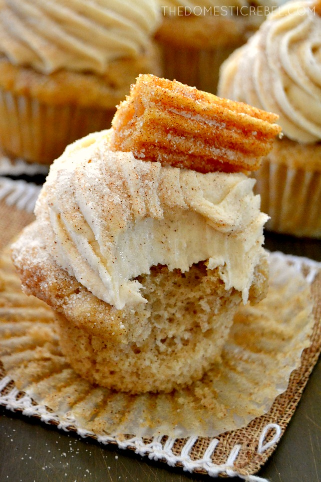 Churro Cupcakes - The Domestic Rebel