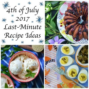A few last-minute recipe ideas to help you celebrate the 4th of July in style, including deviled eggs, cornbread, and lots and lots of homemade ice cream.