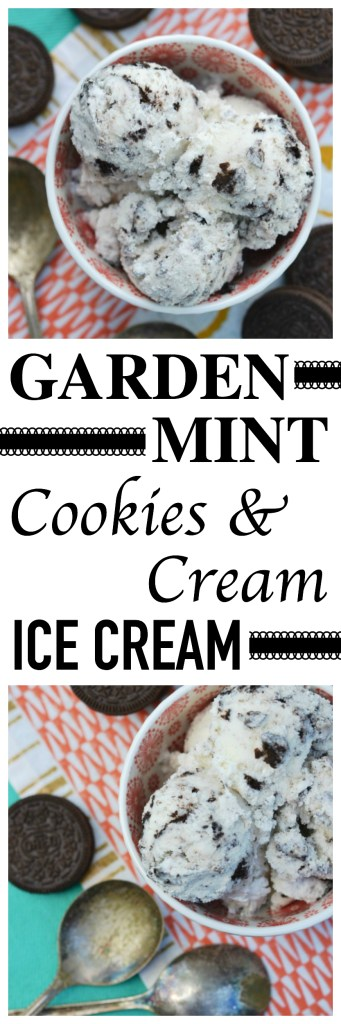 Fresh garden mint and crushed Oreo cookies come together in this ice cream to create the most amazing creamy and super minty frozen summer treat.
