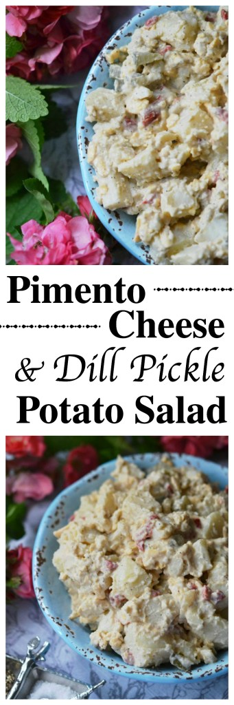 Pimento cheese and dill pickles make this potato salad a summer side dish worthy of any picnic, cookout, or family reunion.