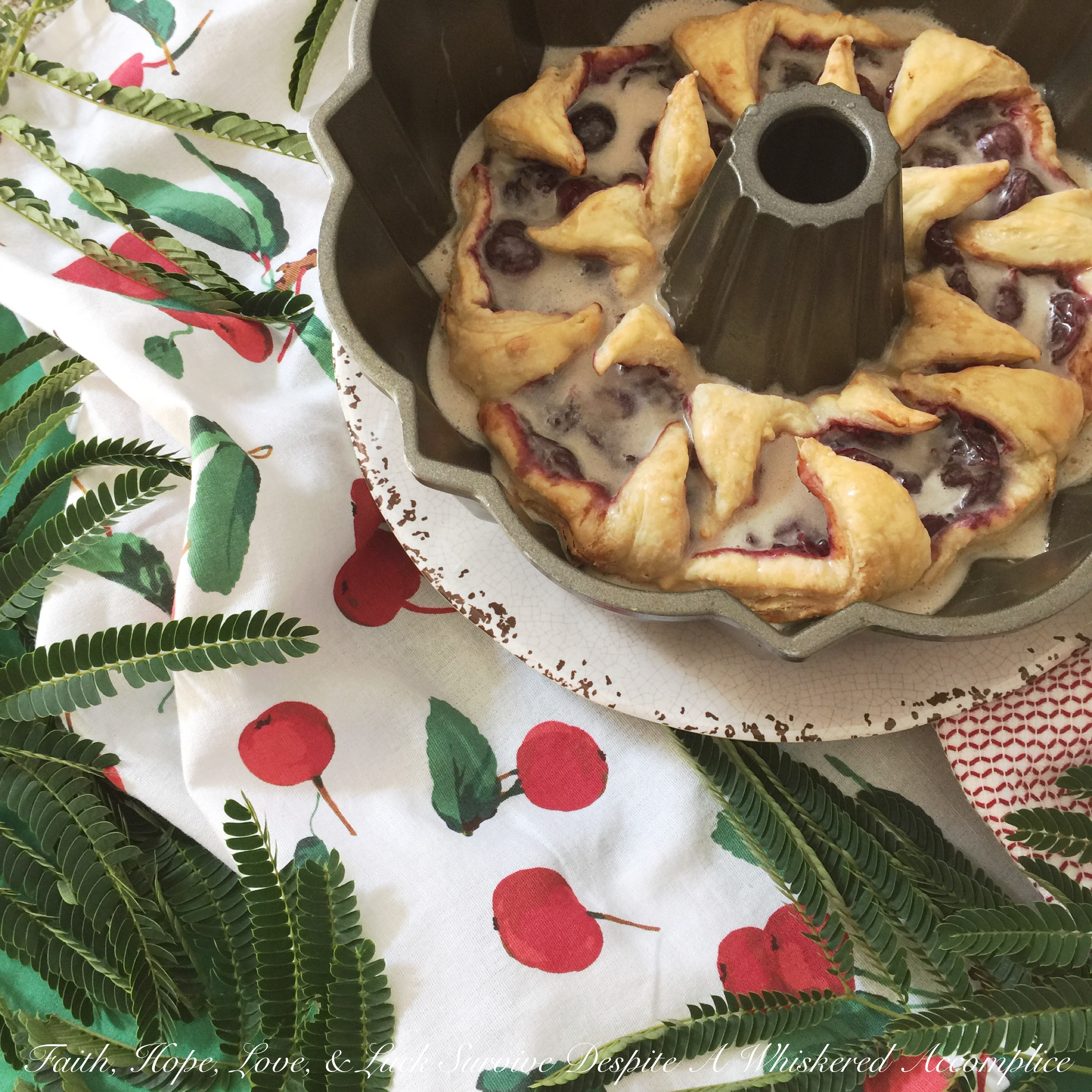 Cherry Bundt Breakfast Danish – #BundtBakers