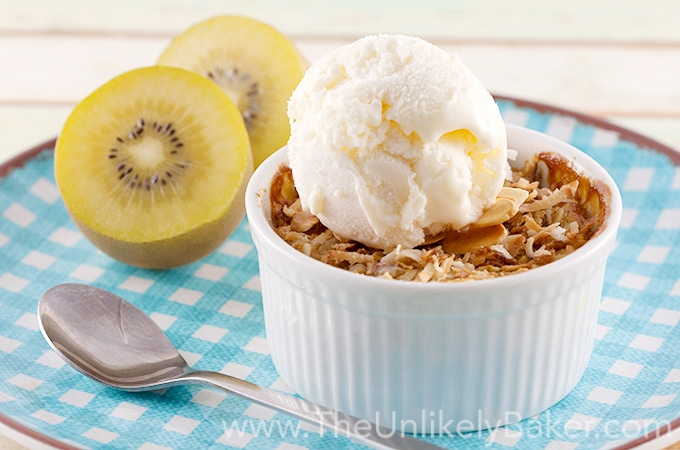 Tropical Kiwi Crumble - The Unlikely Baker